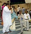 Pratibha Patil presenting the National Awards for Teachers-2006, to Shri Sidhnath Verma Primary School Teacher, Jabalpur, Madhya Pradesh on the occasion of Teacher's Day', in New Delhi on September 05, 2007.jpg
