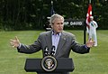 President George W. Bush gestures as he answers a reporter's question.jpg