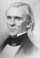 President James K. Polk, circa 1840s. Copy of engraving by H. W. Smith., 1943 - 1945 - NARA - 535919.tif