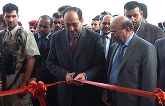 Medhat al-Mahmoud - Medhat al-Mahmoud with Prime Minister Al-Maliki