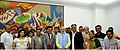 Prime Minister Narendra Modi presents the Batukbhai Dikshit award to 13 Gujarati journalists.jpg