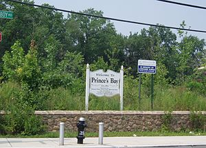 Prince's Bay, Staten Island - Prince's Bay Welcome Sign
