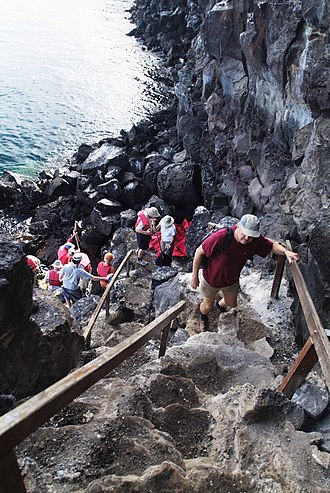 Genovesa Island - Hiking up Prince Philip's steps