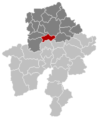 Profondeville - Image: Profondeville Namur Belgium Map