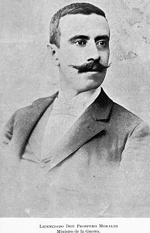 Morales, Guatemala - Lawyer and colonel Próspero Morales, after whom the municipality was named.  He was secretary of War and Economy for president José María Reina Barrios.