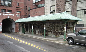Rhode Island Public Transit Authority - The East Side Trolley Tunnel, from the west end.