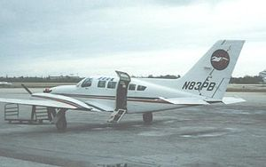 Provincetown-Boston Airlines - PBA Cessna 402C at Key West International in 1987 on scheduled flight to Miami