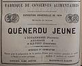 Publicité Quénerdu jeune 1882.JPG