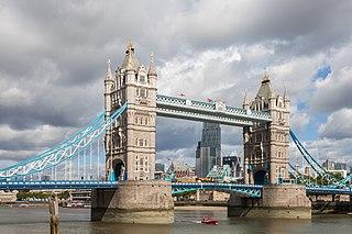 Brücke in London, England, Vereinigtes Königreich
