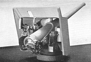 QF 4.7 inch gun deck mounting