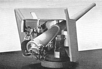 QF 4.7-inch Mk I – IV naval gun - Typical naval deck mounting, 1890s