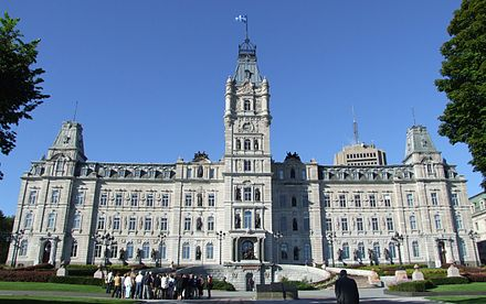 The Parliament Building in Quebec City Quebec - Hotel du Parlement 3.jpg