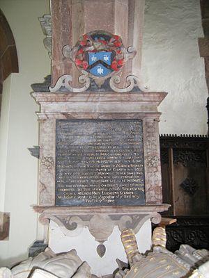 Wolryche baronets - Image: Quatt Francis Wolryche memorial