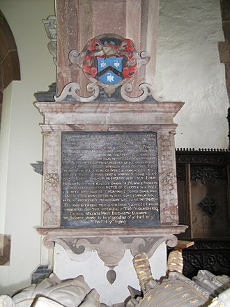 Wolryche baronets - Image: Quatt Francis Wolryche memorial