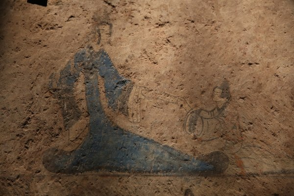 Queen Mother of the West from a Wall-Painting in Han Dynasty Tomb