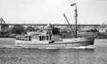 Queensland State Archives 2745 Brisbane pilot boat Captain Heath Brisbane River August 1946.png