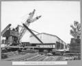 Queensland State Archives 3674 Rocklea workshops stacking steel in stockyard Brisbane 14 June 1936.png