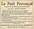 Réclame Le Petit Provençal-1921.jpg