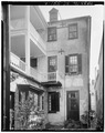 REAR VIEW, FROM NORTH - William Vanderhorst House, 54 Tradd Street, Charleston, Charleston County, SC HABS SC,10-CHAR,320-2.tif