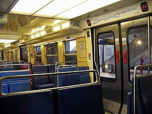 RER B - Inside an almost empty RER B