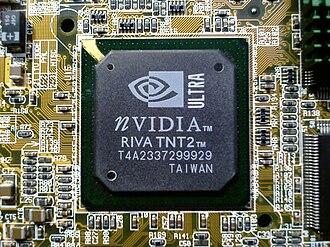 RIVA TNT2 - Image: RIVA TNT2 Ultra GPU