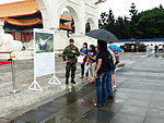 ROCA Soldier Talking about Thunderbolt 2000 MLRS to Visitors 20140607.jpg