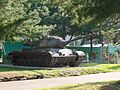 ROK Army 7th Infantry Division HQ - Exhibited M47 Patton and Bronze sculpture of Major Simil.jpg