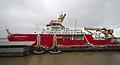 RRS Sir David Attenborough at Liverpool Cruise Terminal 1.jpg