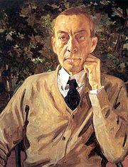 Portrait of Sergei Rachmaninoff (1925) by Konstantin Somov