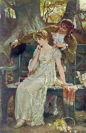 """Doubts"", Henrietta Rae, 1886"