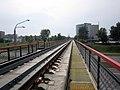 Railroad bridge above Partyzanski avenue in Minsk.jpg