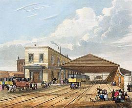 Bahnhof Liverpool Im Hintergrund die Einfahrt zum Wapping-Tunnel