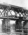 Railway bridge, war damage, sapper, bridge building, river, First World War Fortepan 73691.jpg
