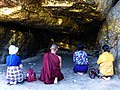 Rajgir - 040 Chanting at Boar's Cave (9244902902).jpg
