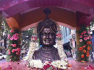 Rajkumar (actor) - Bust of Rajkumar in Jayanagar