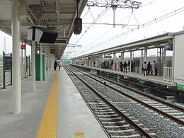 Rakusaiguchi Station temporary platforms.jpg