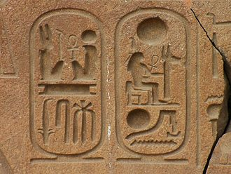 Name - A cartouche indicates that the Egyptian hieroglyphs  enclosed are a royal name.