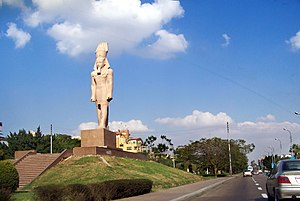 Statue of Ramesses II - A replica of the Ramesses II statue stands on Salah Salem street in Heliopolis, Cairo
