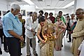Ranjana Bandyopadhyay Lighting Lamp - Opening Ceremony - 1st Four Ps Group Exhibition - Kolkata 2019-04-17 5414.JPG