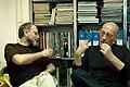 Ranko Munitic (1943-2009), right, with Rastko Ciric.jpg