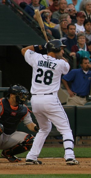 Raúl Ibañez - Ibañez at bat on August 2, 2008 against the Baltimore Orioles