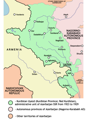 Kurdistansky Uyezd - Image: Red kurdistan 1923 1929