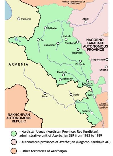 Fichier:Red kurdistan 1923 1929.png