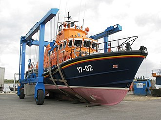 Severn-class lifeboat - Image: Relief Lifeboat The Will out of the water