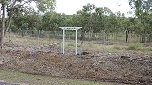 Clairview, Queensland - Remains of the former Clairview railway station on the North Coast railway line, 2016