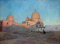 René Ménard 1884 Les dômes de la mosquée Barkouk, Le Caire.jpg