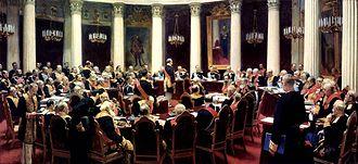 Boris Kustodiev - Image: Repin state council