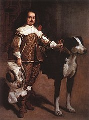 Dwarf with a Dog, formerly denominated Antonio el Inglés (Circle of Velázquez)