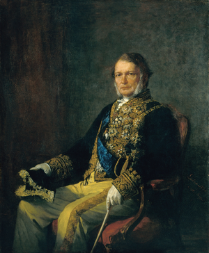António José de Ávila, 1st Duke of Ávila and Bolama - Portrait of the Duke of Ávila and Bolama; Miguel Ângelo Lupi, 1870.