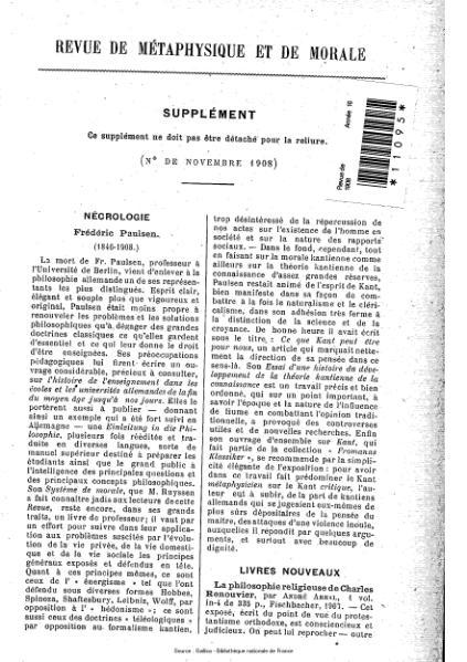 File:Revue de métaphysique et de morale, supplément 6, 1908.djvu